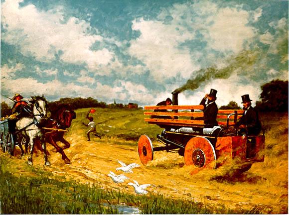 steam car painting